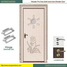Porte en bois d'entrée porte en bois pure porte en bois simple