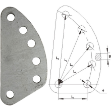 Jalur Overhead Galvanized Steel DB Adjusting Plate