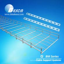 Bandejas de cables de malla de alambre de acero inoxidable / aluminio