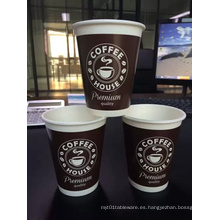 Tazas de papel para café / té y tapas SIP: desechables de 10 oz para bebidas calientes