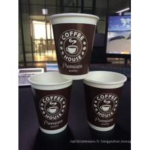 Tasses à café et à thé et couvercles SIP jetables de 10 oz pour boissons chaudes