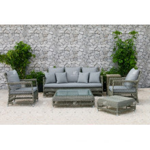 DEVON COLLECTION - Synthetisches PE Rattan Outdoor Sofa Set