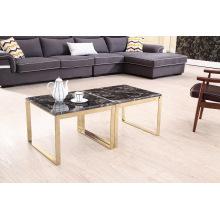 Современный глянцевый титан + мраморный угловой стол