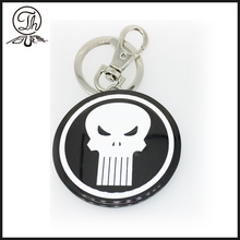 Black Nickel Keychain com Punisher escudo chaveiros