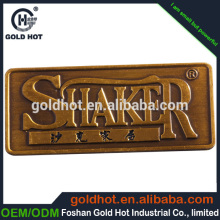 High quality industrial metal labels Accept Paypal adhesive leather label