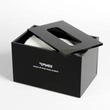 Black Acrylic Tissue Holder, Portable Lucite Tissue Storage Box