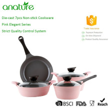 Hot Pink Prestige Aluminum Decorative Cookware Set