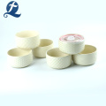 New Fashion Wholesale Price Custom Printing Ceramic Salad Bowl with Lid
