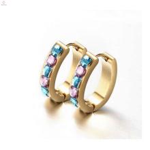 Golddiamant Huggie Ohrringe, runde Huggie Ohrringe mit Diamanten