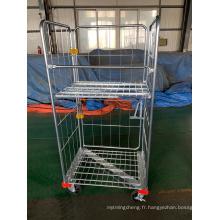 Chariots à roues Chariot à cage logistique robuste