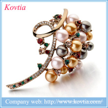 new 2016 alibaba website christmas embellishments crystal and pearl brooches