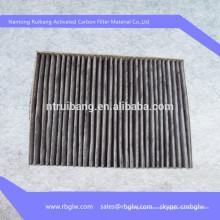 fabrication du visage bouclier matériel tissu de coton de carbone activé