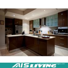 Mobília UV do armário de cozinha com o punho para a venda por atacado (AIS-K399)