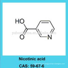 Ácido nicotínico em pó / CAS 59-67-6 / USP / BP / FCC4 grade / GMP & DMF