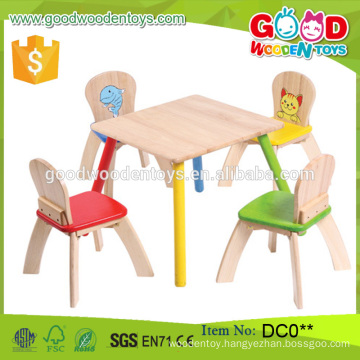 Fashion Style Brand New High Quality Wooden Kids' Table and 4-Chair Set Wholesale China Alibaba