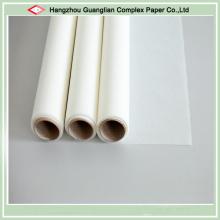 Bobine de papier parcheminé enduite siliconée de deux côtés