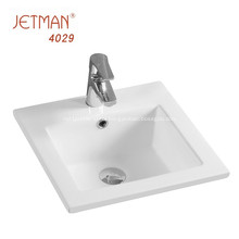 thin edge ceramic decorative basin rectangular