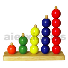 Wooden Number Ring Counter with Good Quality Beads (80051)
