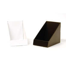 Black Cardboard Counter Display Stand Retail