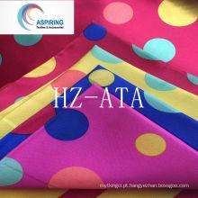 Tecido de cetim de poliéster para o vestido de revestimento e decoração