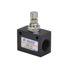 Válvula de controle de fluxo pneumática série ASC