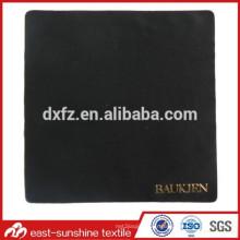 Tissu à lentille en microfibre à chaud avec logo embossé; Tissu de nettoyage de microfibres impressionné pour lunettes