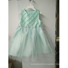 Meninas de flor / meninas da princesa / vestido branco / vestido de casamento da criança