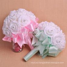De alta calidad nupcial rebordear artificial hermoso ramo de flores de la boda