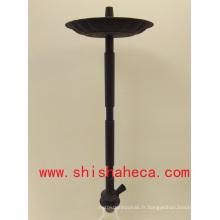 Noir bonne qualité en gros en aluminium narguilé fumer pipe shisha narguilé