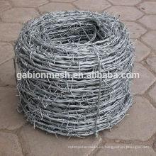 Barato barbelas de alambre de púas precio y cercado de alambre de púas