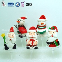 Polymer Clay Christmas Decoration for Cake