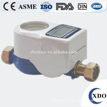 DN15 prépayée compteur d'eau, compteur d'eau carte IC, plan de compteur d'eau intelligent