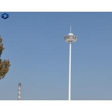 Achteckige 25m verzinkte elektrische Hochmastbeleuchtung Stahlstange