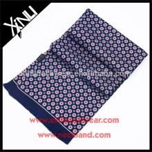 Handmade Tassel Screen Printed Double Side Skinny Silk Scarf