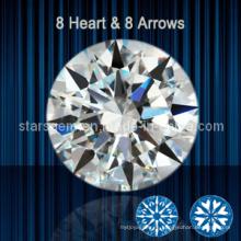 8 corazones y 8 flechas Zirconia cúbica Piedra blanca de circonita