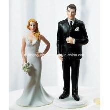 Novia de la novia de la boda y Tall Groom Figurine Cake Topper