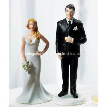 Mariée de résine de mariage et étagère