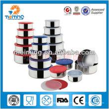 Boîte de rangement en acier inoxydable 5pcs, boîte de rangement en plastique, boîte de rangement pliable