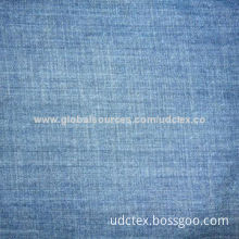 Polyester/Cotton Colored Denim Stretch Fabric with 10/16S Cotton Warp