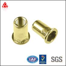 Parafuso de cobre personalizado de fábrica com rosca interna