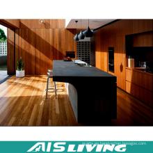 Muebles de gabinetes de cocina de chapa de melamina para Villa (AIS-K309)