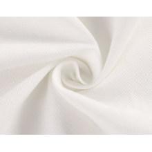 de blanco crema poliéster algodón sarga tejido