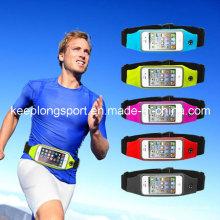 Bolso de moda de la cintura de Lycra para el iPhone, caso del iPhone del neopreno