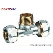 Messing-Fittings für Pex-Al-Pex-Rohr / Compression Fitting / Male T-Fitting / Kupfer Fitting