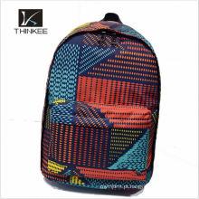 Design marca poliéster crianças saco de escola do trole