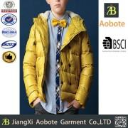2015 Oem Service Little Boys Handsome Winter Down Jacket