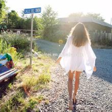 2017 verão moda europa mulheres vestido de verão vestido de praia de algodão mulher
