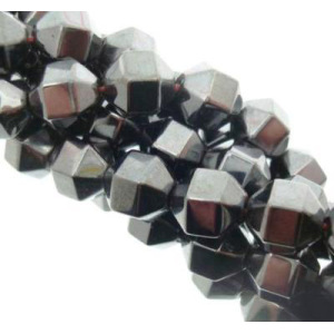 Hematite 6side Barrel Beads 10X10MM