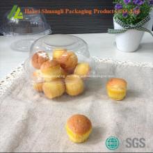 Прозрачный контейнер пластиковый одиночный кекс