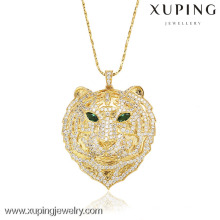 32008 Xuping moda 18k banhado a ouro tigre pingente de forma